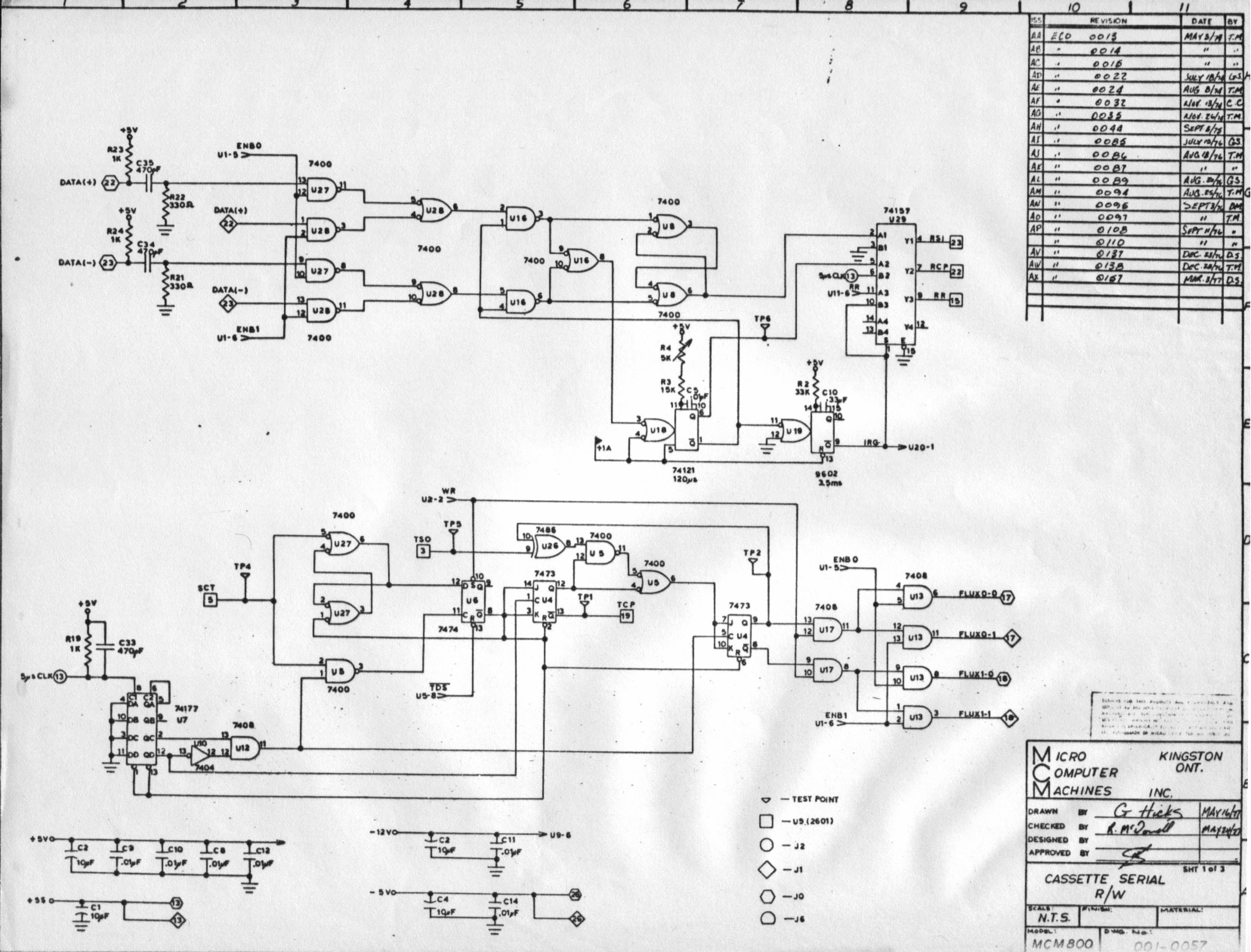 mcm 800 tape deck fanuc cable wiring dia…  wiring diagram for microphone