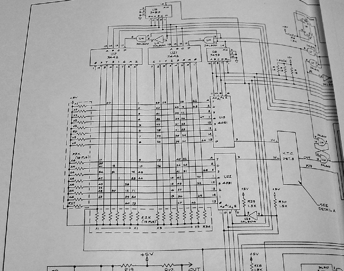 Processor Tech Sol Keyboard Repair Schematic Diagram Heres The Portion Of